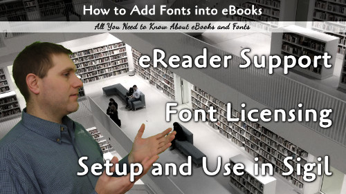 Fonts and eBooks